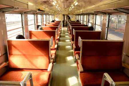 interior of train