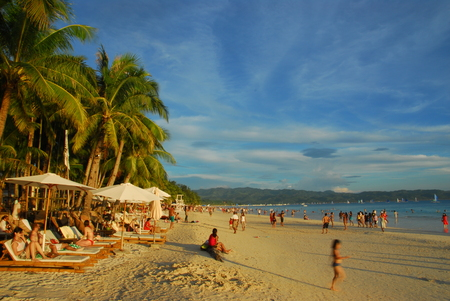 White Beach,Boracay,Philippines Editorial