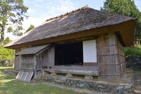Aouzou surrounding valley,spot,XiaoCafei  dwelling house,Tokushima County,Miyoshi City,Japan Stock Photo