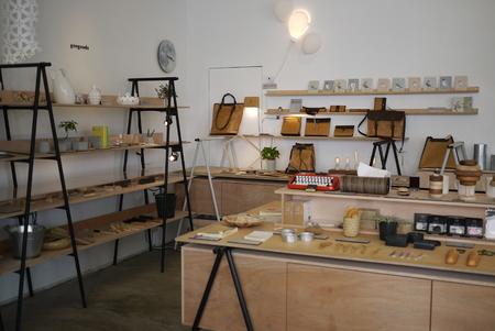 store shelf: interior of a shop Editorial