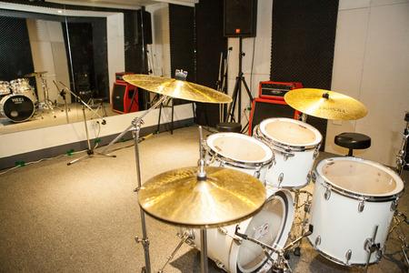drum set in studio Editorial
