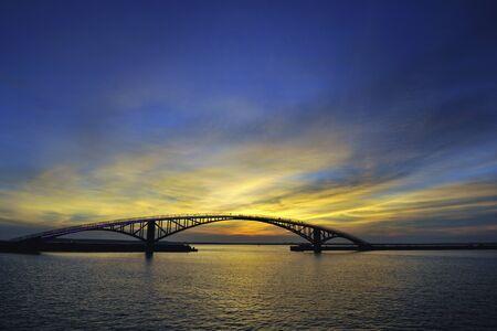 Scenic shot of Xiying Rainbow Bridge Penghu County