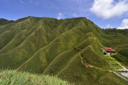 High angle shot of Marian hiking trail Jiaoxi