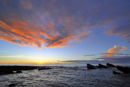 Scenic shot of coast in Taitung County