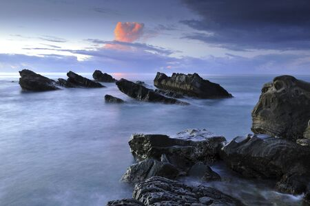 Scenic shot of coast with magic atmosphere in Taitung County