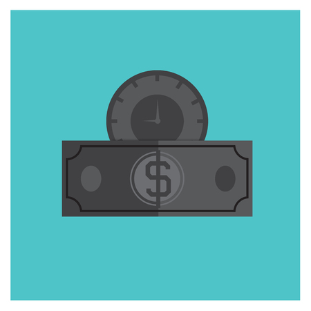 tax time: money time finance business success concept icon vector stopwatch clock