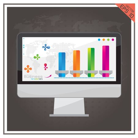 computer graph: computer graph  business world map internet