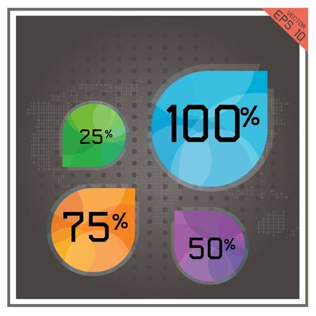 the percentage: pie chart business  number percentage world map