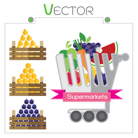 greengrocer: Business design with Fruit supermarket illustration