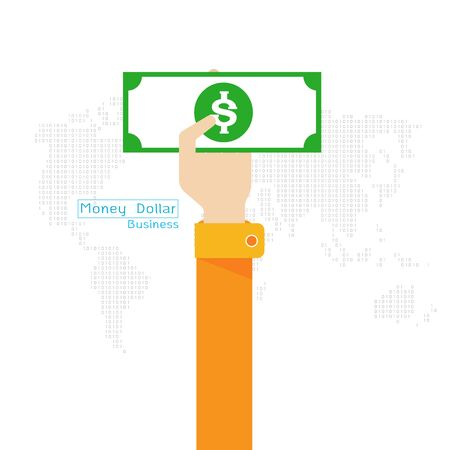 handing: money Dollar map world icon hand and arm