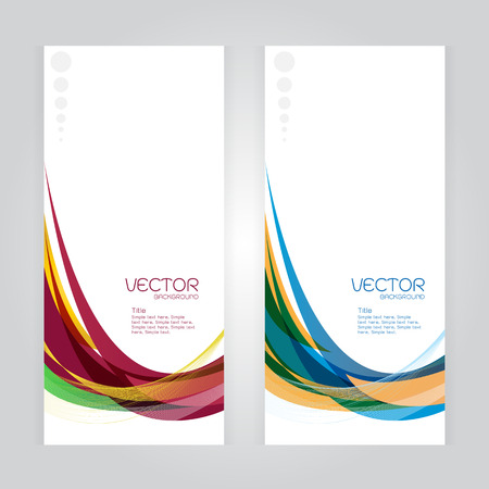 whit: vector background Abstract headercolorful wave whit vector design on gray Illustration