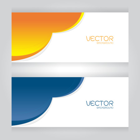 orange cut: Vector Design Colorful blue Orange cut on gray background Illustration