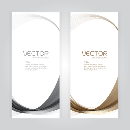 whit: vector background Abstract header gray brown wave whit vector design on gray background Illustration