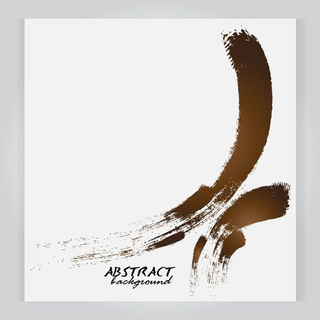 paintbrush: abstract background Watercolor background paintbrush brown Illustration