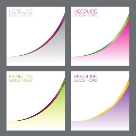 green purple: vector background card design business Curved linear color Gradation Pink, green, purple, gray