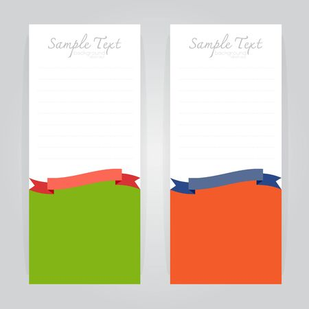 sample text: vector background sample text card design business Curved linear color orange Green