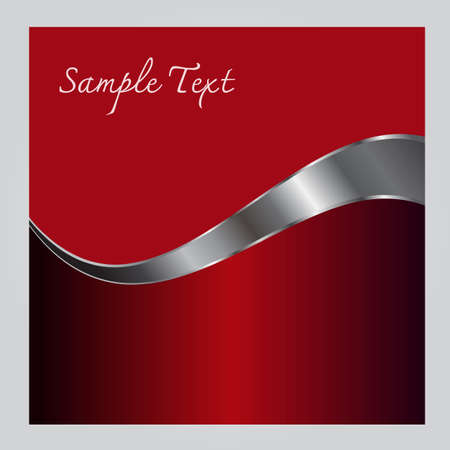 sample text: Creative vector illustration of the abstract frame red sample text on gray background