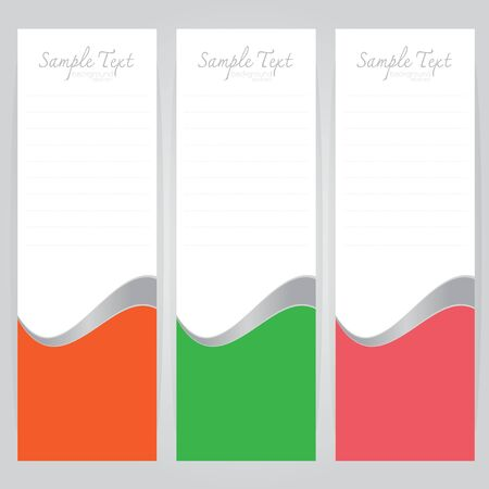 concave: vector background Abstract Orange Green Pink card concave curve on gray background