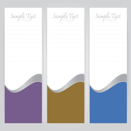 concave: vector background Abstract Purple brown blue card concave curve on gray background