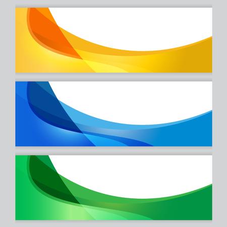blue green background: Vector Background tree frame Orange, blue, green