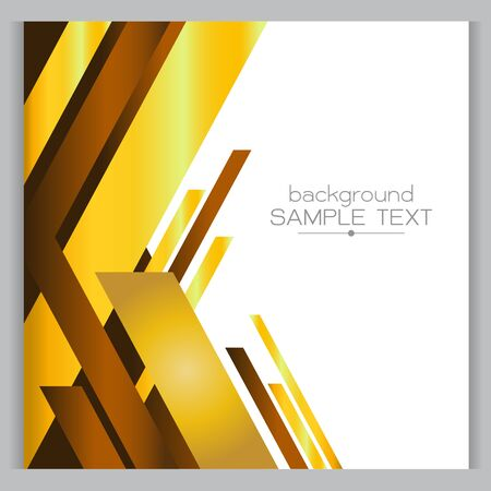 designed: background Yellow gold with designed elegant abstraction.  Illustration