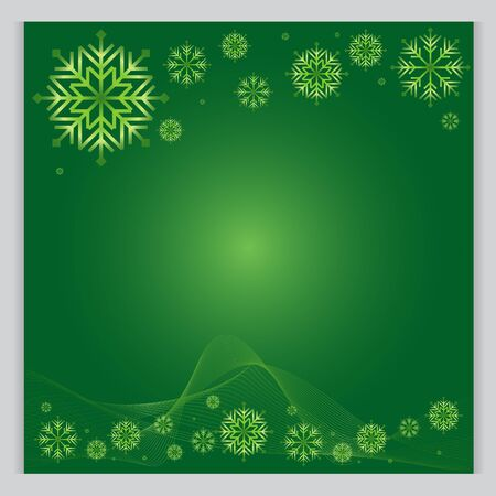 cold weather: Christmas Background green  The cold weather season Vector Illustration