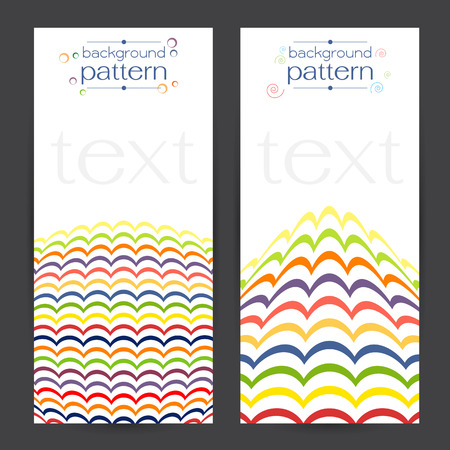 concave: background Three concave curve Keelung many colors, orange, red, pink, green, purple, blue The geometric pattern Seamless vector and white texture