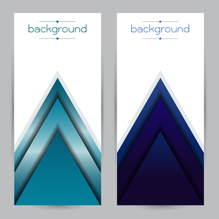 durable: vector Realistic geometrical background blue with triangle Gradient strength durable Illustration