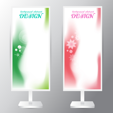 gradation: background abstract vector green pink soft area Gradation texture flower
