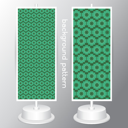 be green: background retro  different seamless patterns. Endless texture can be used for green white colors