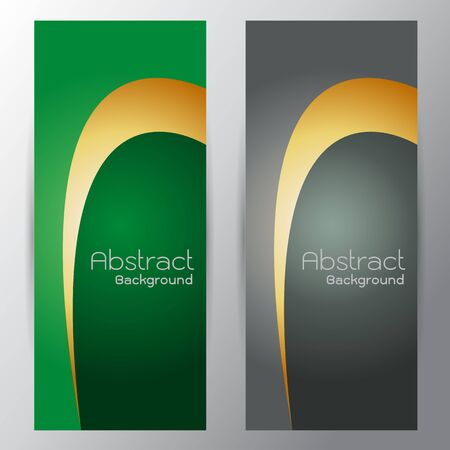 curve line: Silver curve line on green gray gradient vector for text design on gray background Illustration