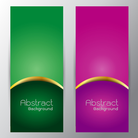curve line: Silver curve line on green purple gradient vector for text design on gray background Illustration