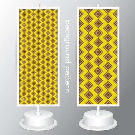 jumbo: vector Yellow and White Geometric Patterns. Retro Mod Backgrounds in Jumbo Polka Dot, Diamond Lattice, Scallops, Quatrefoil and Chevron Patterns. Pattern Swatches made with Global Colors geometrical abstract seamless pattern on gray background