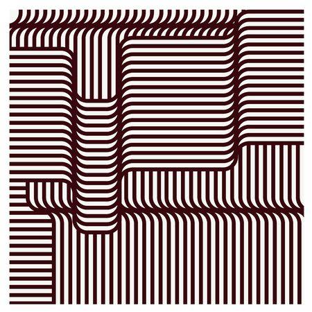 undulated: vector illustration Set seamless patterns line geometric Stylish Modern abstract wallpaper  on gray background
