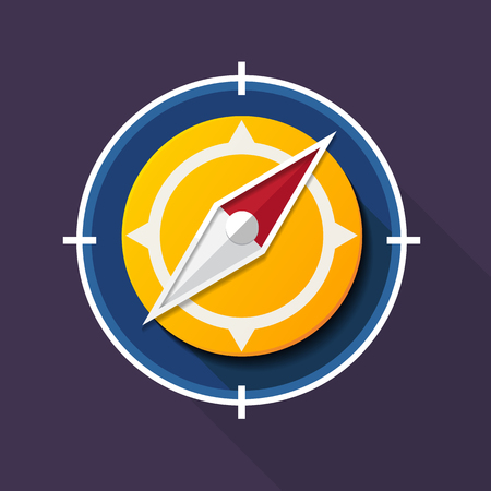 Vector illustration Compass with icon