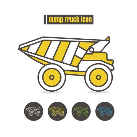 dumper truck: Dumper truck icon color on white background
