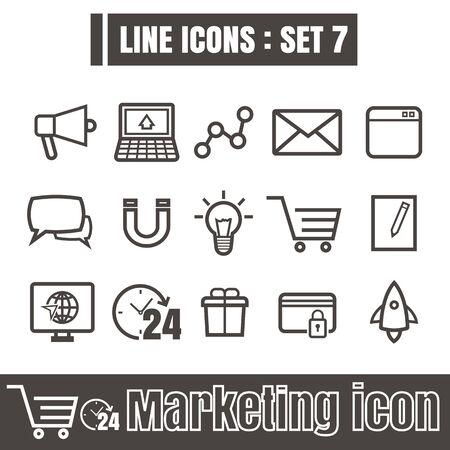 taget: Line icons black set