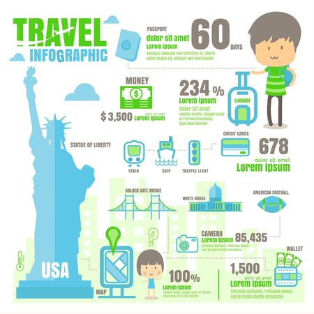 USA infografica. su sfondo bianco Archivio Fotografico - 62707709