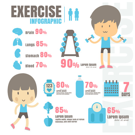 Infographic exercise Health Treatment on white background