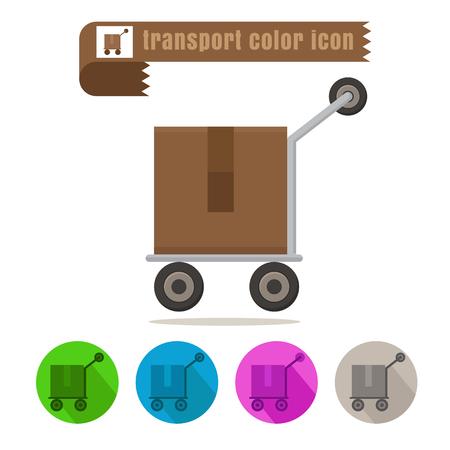 deliverable: icon transport parcel colorful design vector on white background