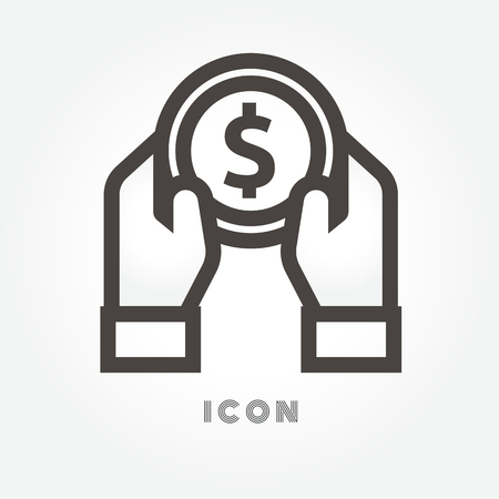 Wealth, salary suitable for info graphics, websites and print media. Colorful vector icon on white background. Ilustração Vetorial
