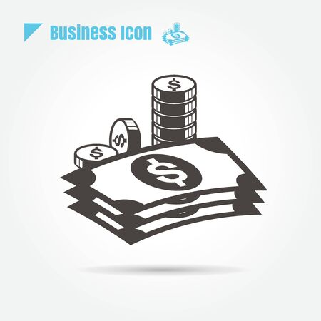 icons money design vector line black on white background and logo