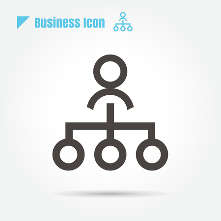 Sitemap Hierarchy Business icon vector on white background