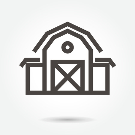 icon barn & farm building icon illustration isolated sign symbol thin line for web, modern minimalistic flat design vector on white background. abstract. logo