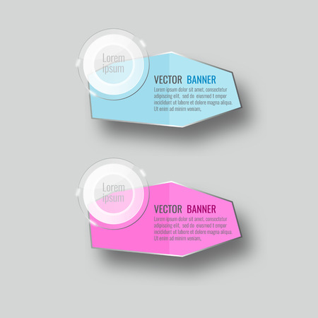 note paper: Vector glass infographic banners set on gray background. template, for, presentation, education, web