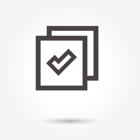 Website icon vector on white background.