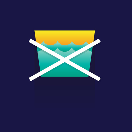 natural drying: icon Laundry. wash. symbols. Vector. illustration. colorful. idea design. on blue background. logo. label. button Illustration