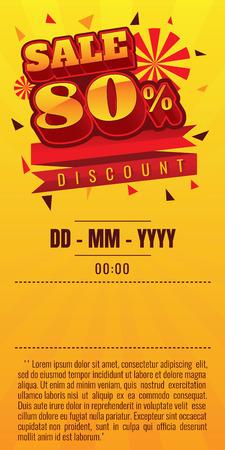 sale. discount up to 80% off. vector illustration. Sale banner Illustration