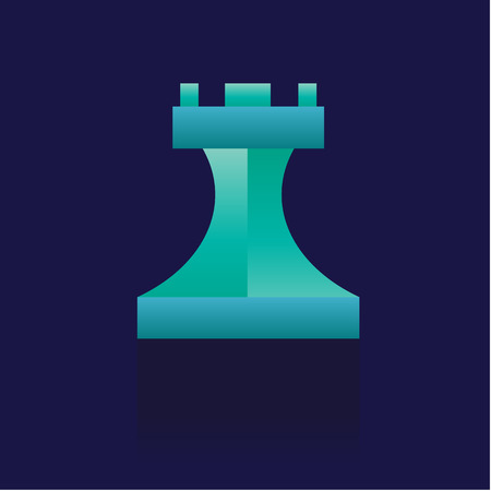 Chess piece flat icon. on blue background. vector illustration. logo. Symbols. Business Stock Illustratie