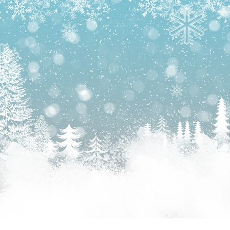 winter holiday snow background for Christmas background Stock Photo